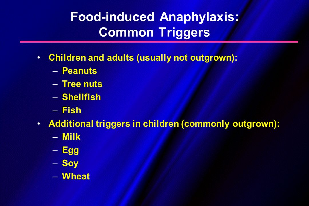 Food-induced Anaphylaxis: Common Triggers