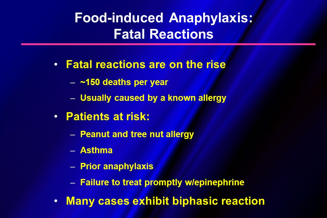 Food-induced Anaphylaxis: Fatal Reactions