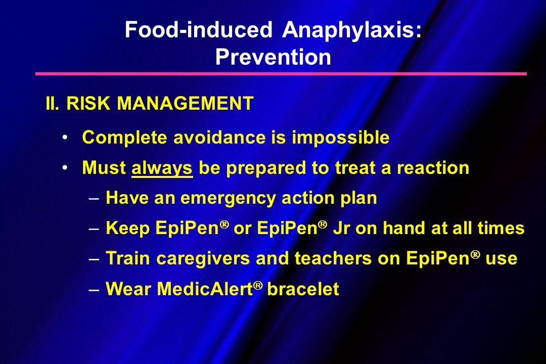 Food-induced Anaphylaxis: Prevention