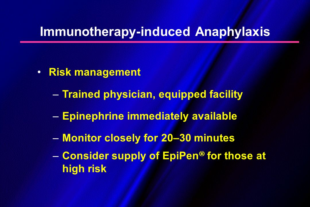 Immunotherapy-induced Anaphylaxis