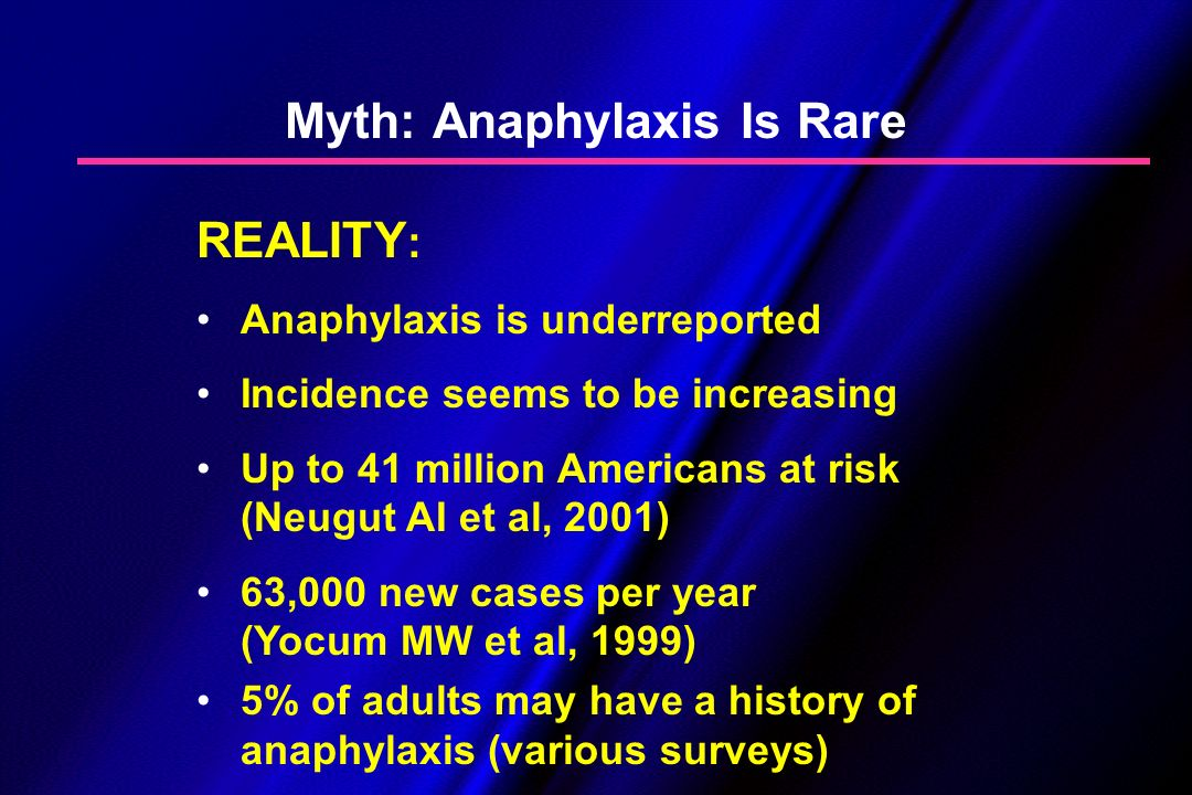 Myth: Anaphylaxis Is Rare