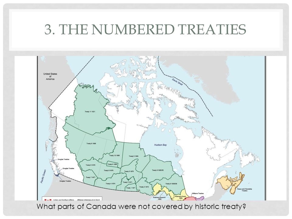 3. The Numbered Treaties -note the outline of Nunavut.