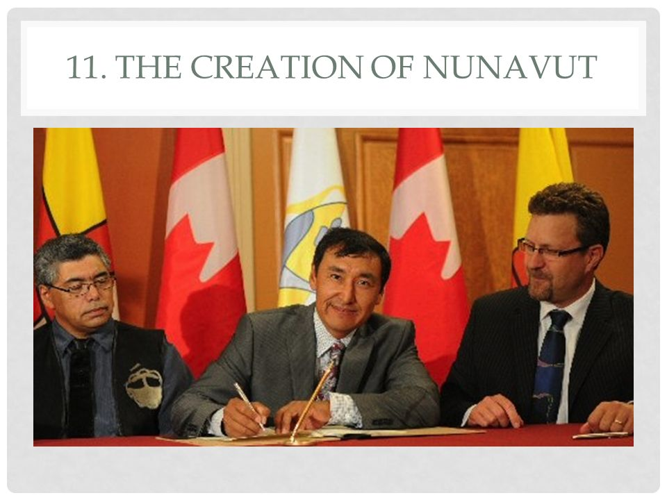 11. The Creation of Nunavut