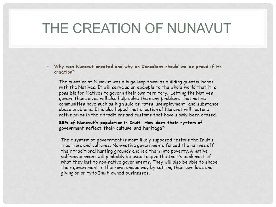 The Creation of Nunavut