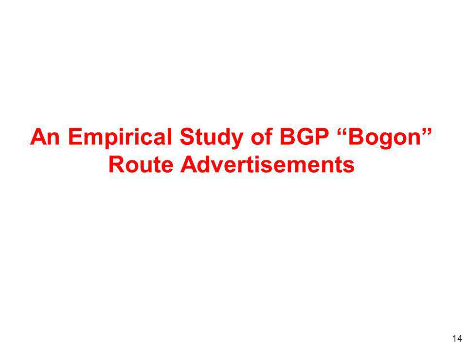 An Empirical Study of BGP Bogon Route Advertisements