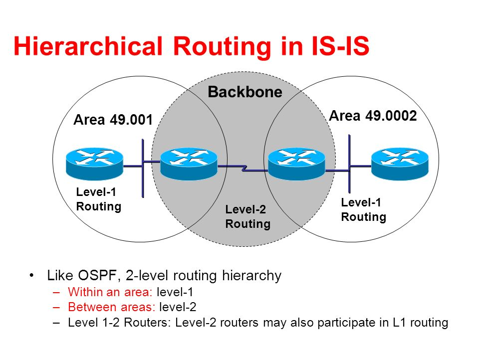 Hierarchical Routing in IS-IS