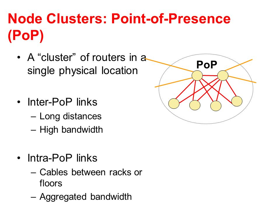 Node Clusters: Point-of-Presence (PoP)