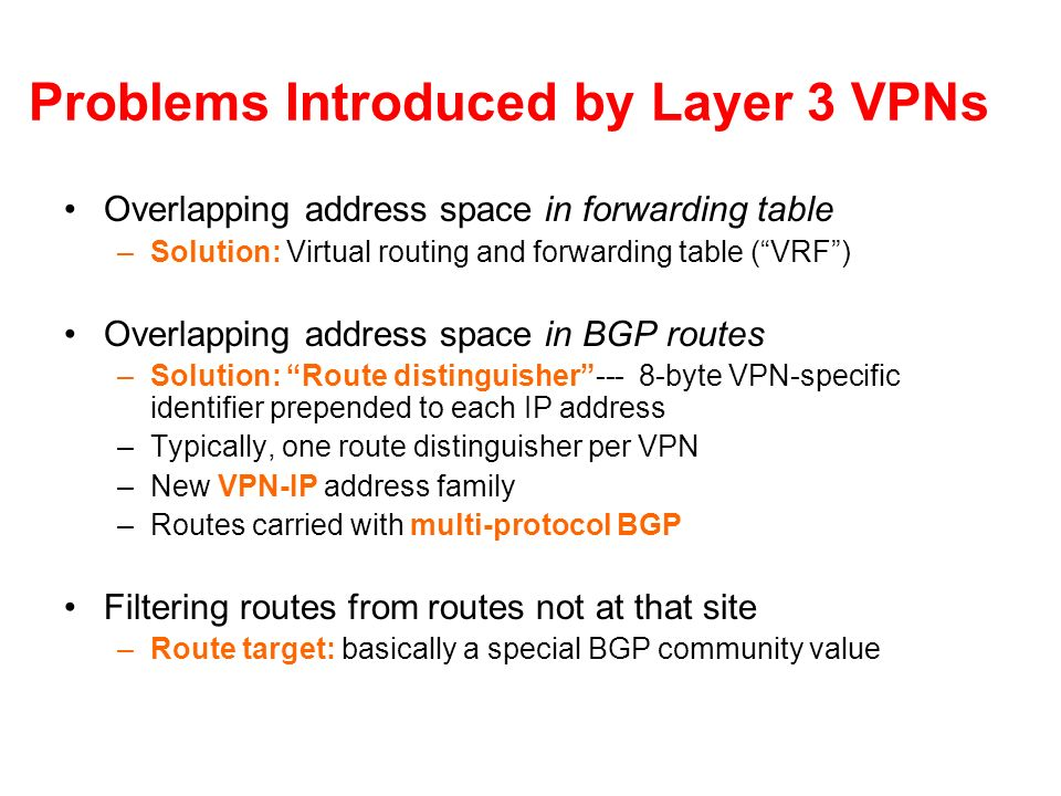 Problems Introduced by Layer 3 VPNs