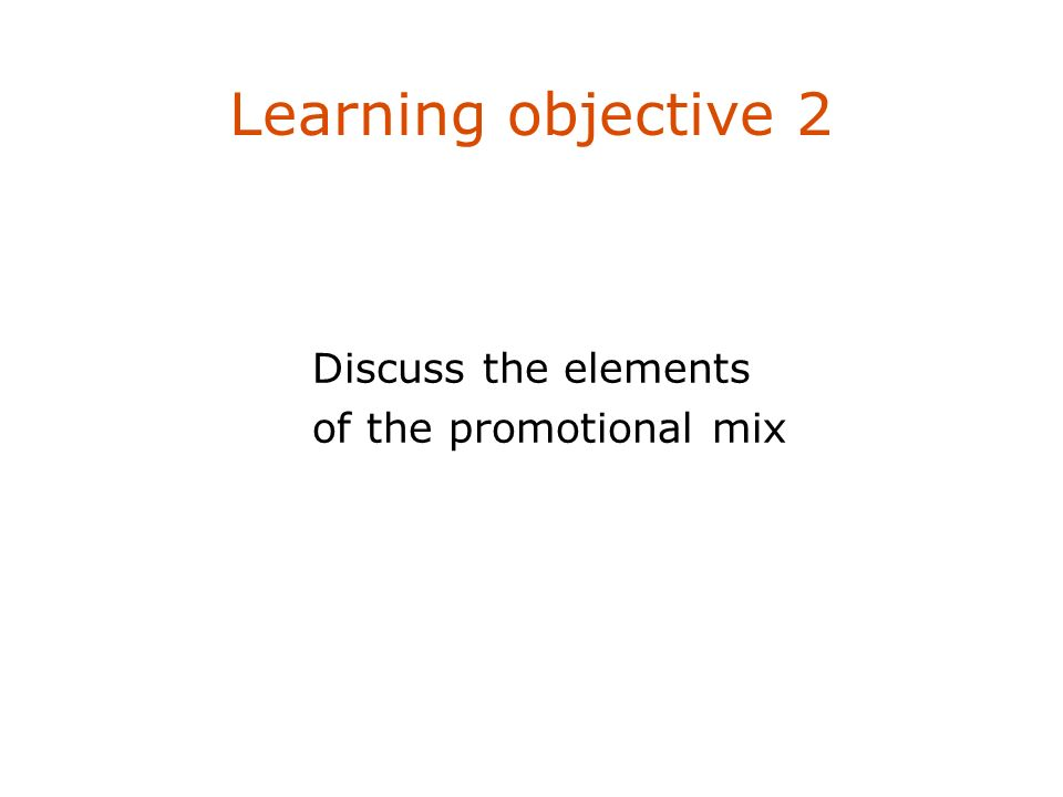 the different elements in communication mix Standardizing or adapting the marketing mix  interview with its communication  and adaptation of the different elements of the marketing mix.