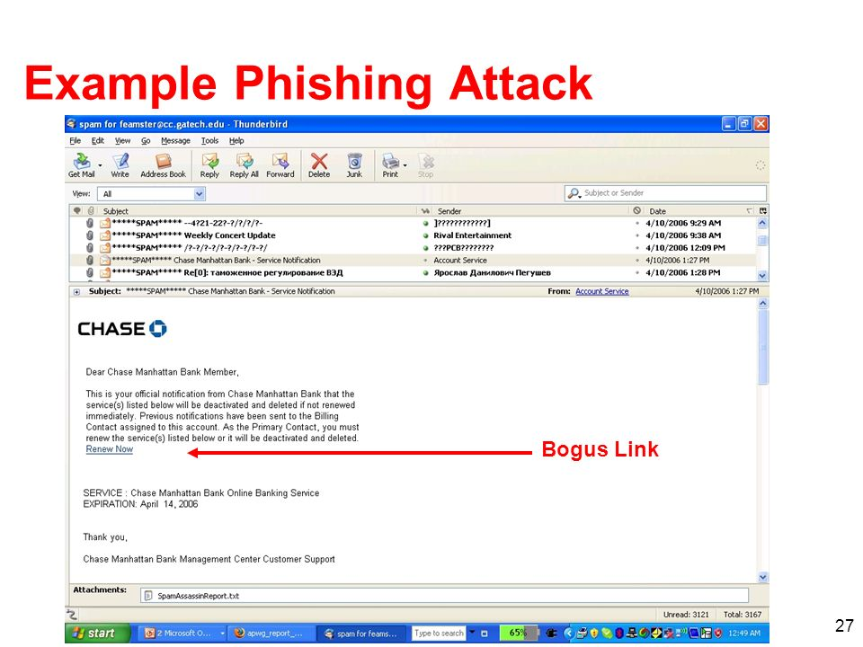 Example Phishing Attack