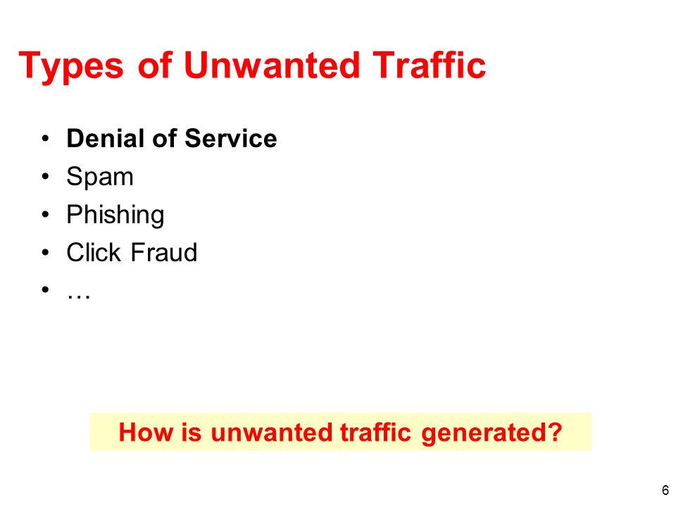 Types of Unwanted Traffic