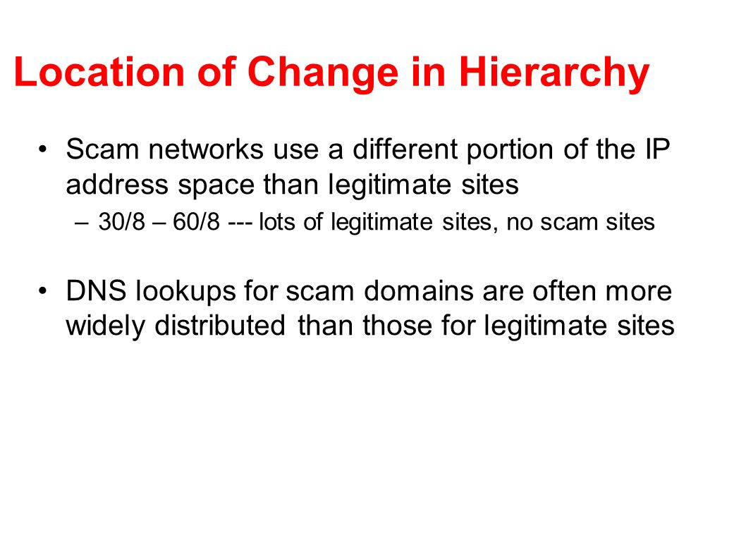 Location of Change in Hierarchy