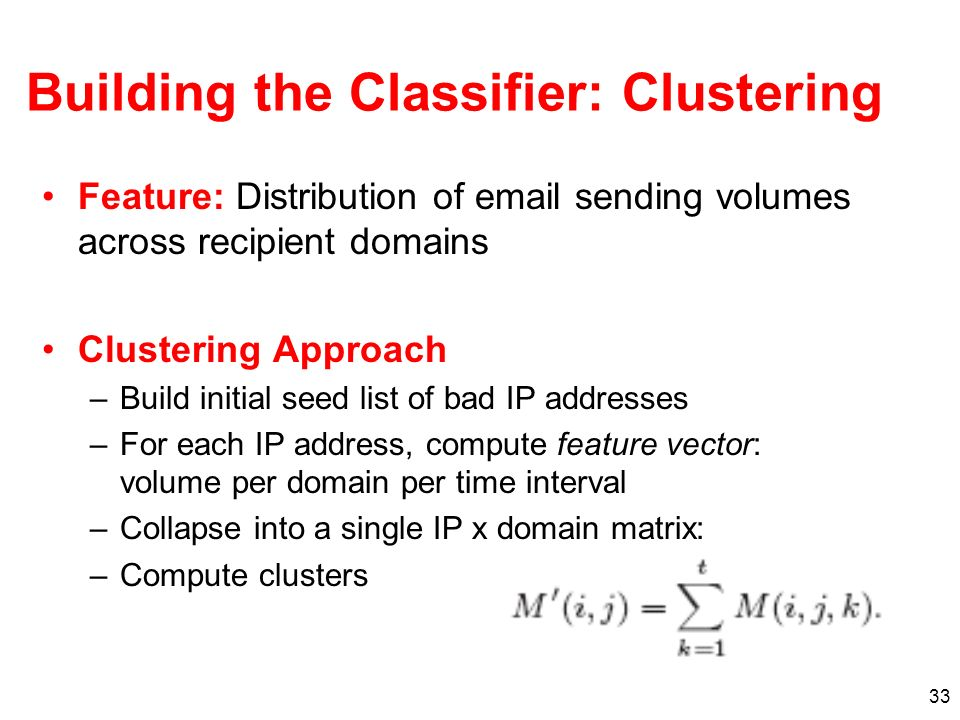 Building the Classifier: Clustering