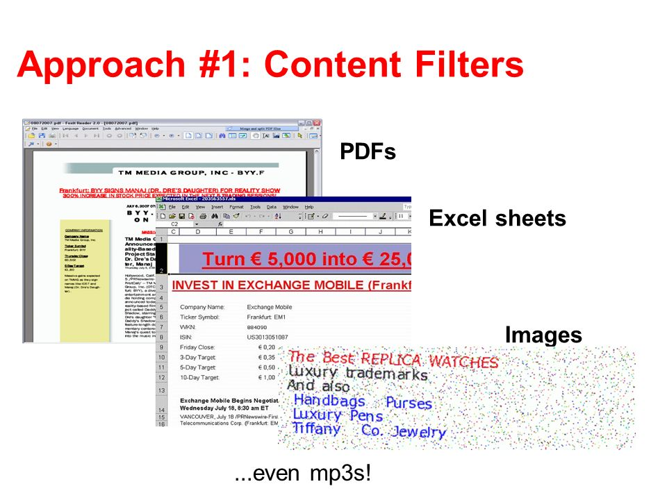 Approach #1: Content Filters