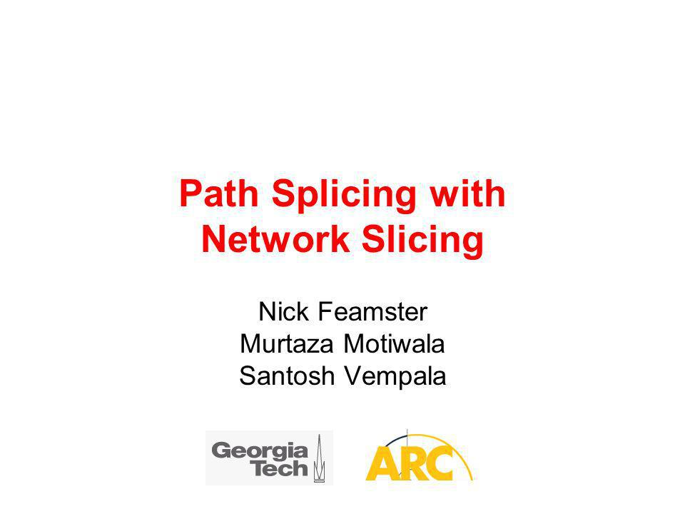 Path Splicing with Network Slicing