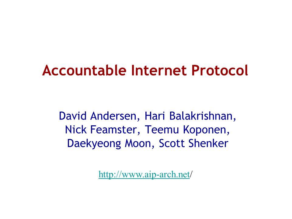 Accountable Internet Protocol