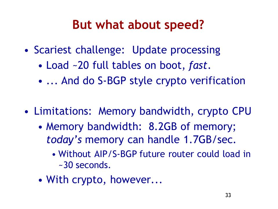 But what about speed Scariest challenge: Update processing