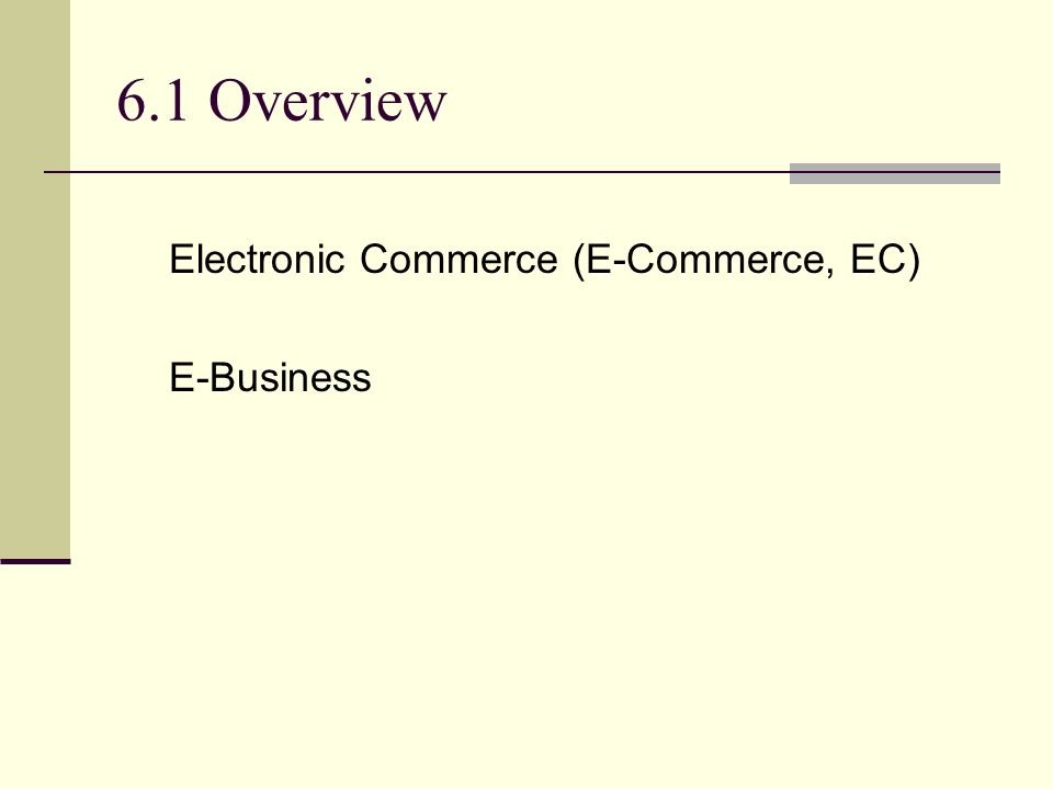 overview of e commerce pdf