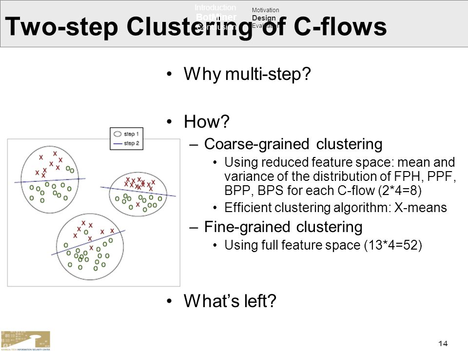 Two-step Clustering of C-flows