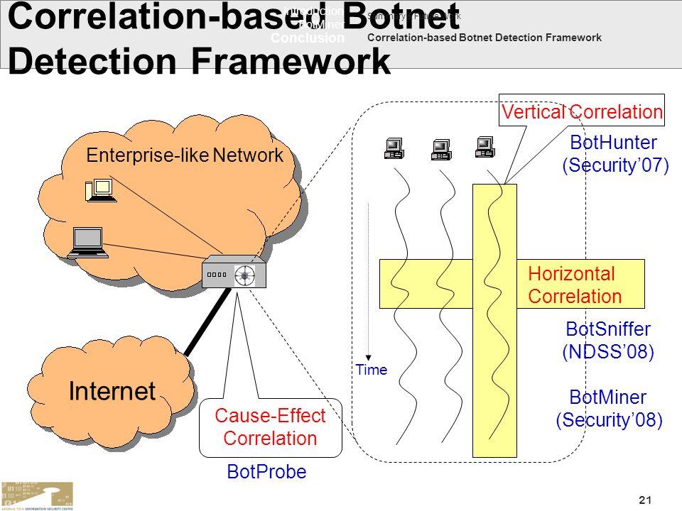 Correlation-based Botnet Detection Framework