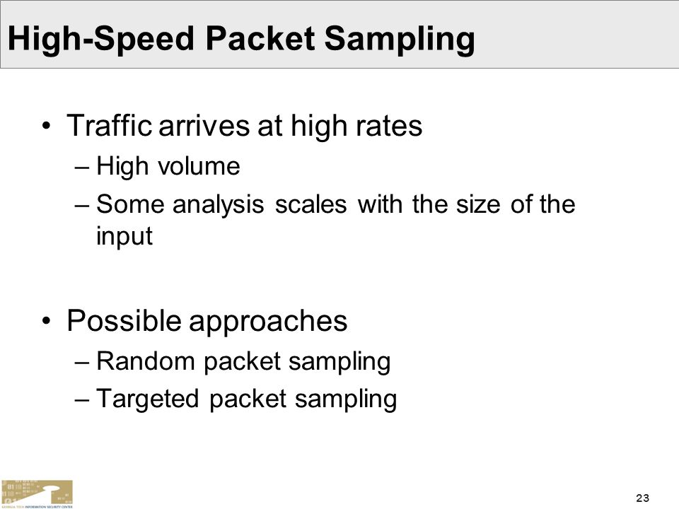 High-Speed Packet Sampling