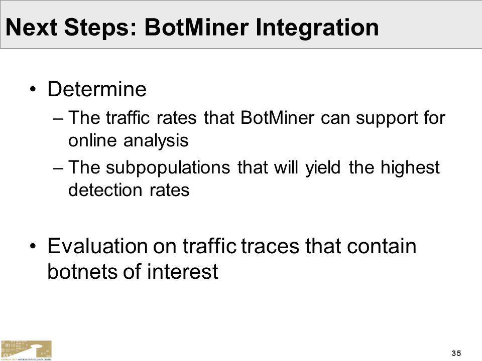 Next Steps: BotMiner Integration
