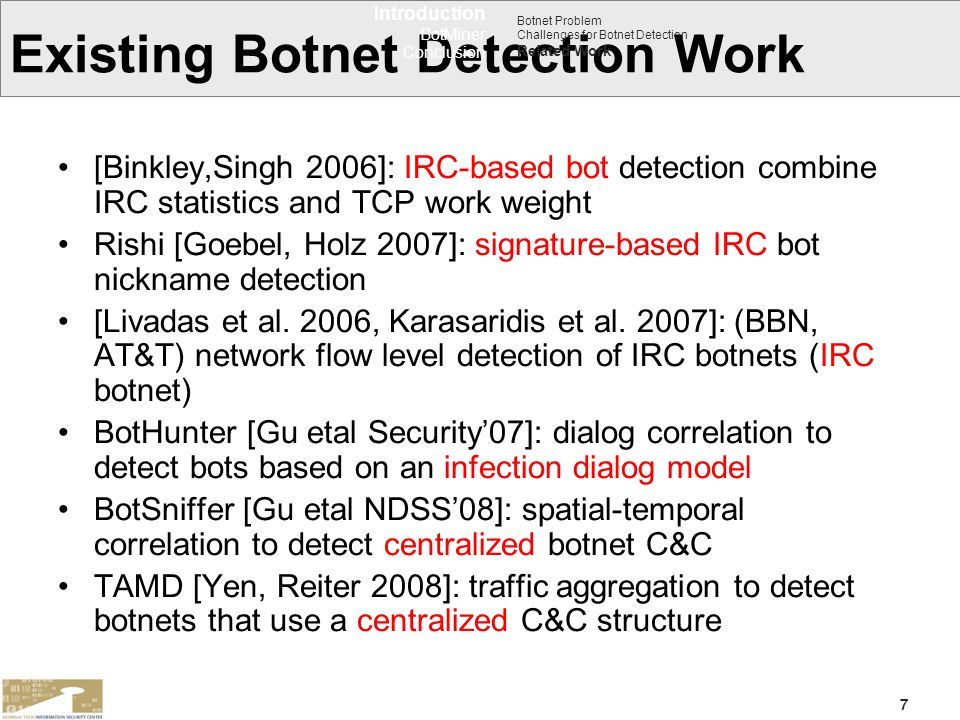 Existing Botnet Detection Work