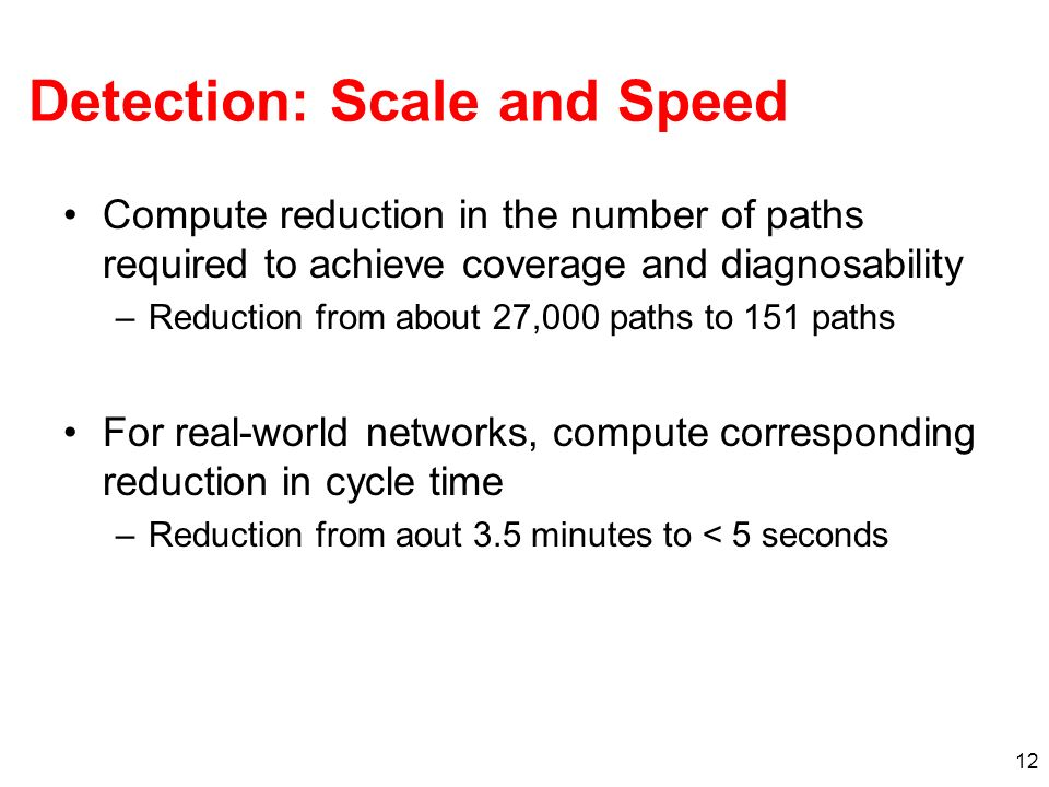 Detection: Scale and Speed