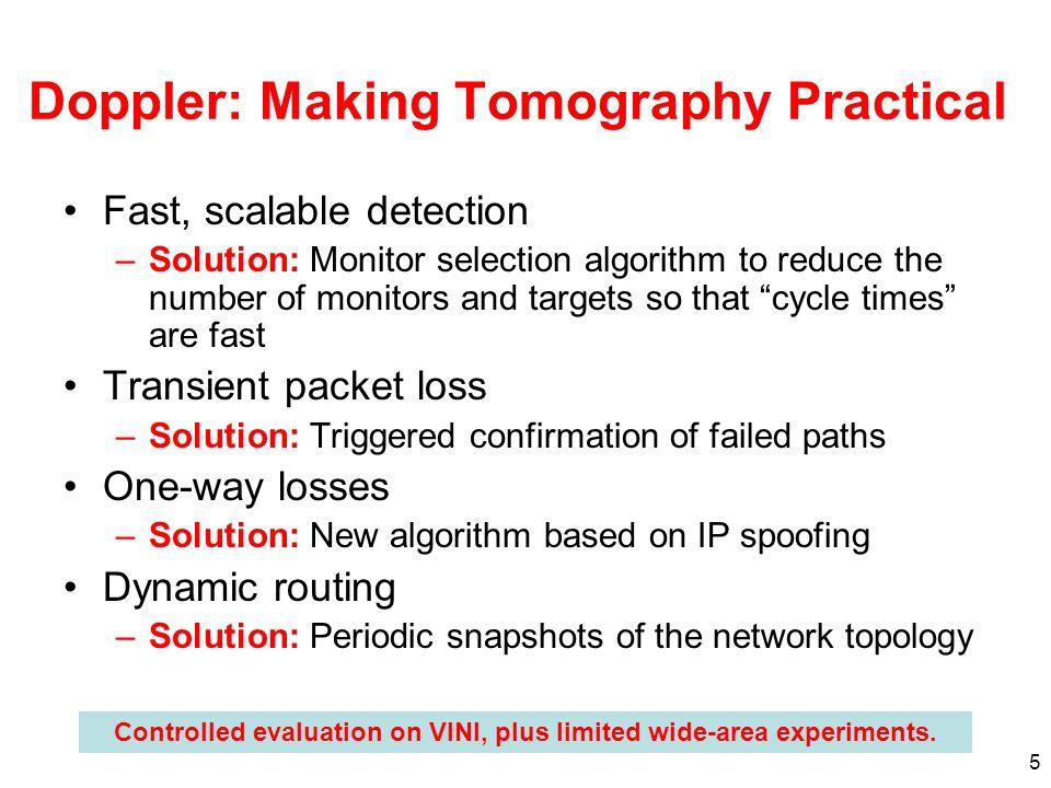 Doppler: Making Tomography Practical