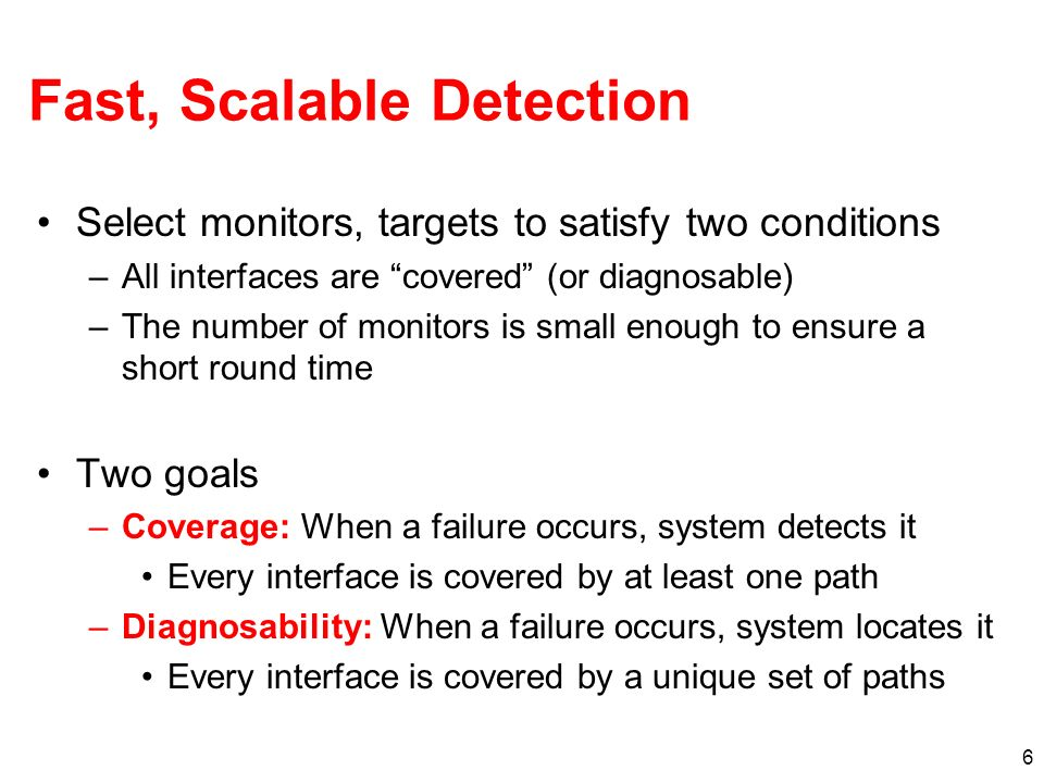 Fast, Scalable Detection