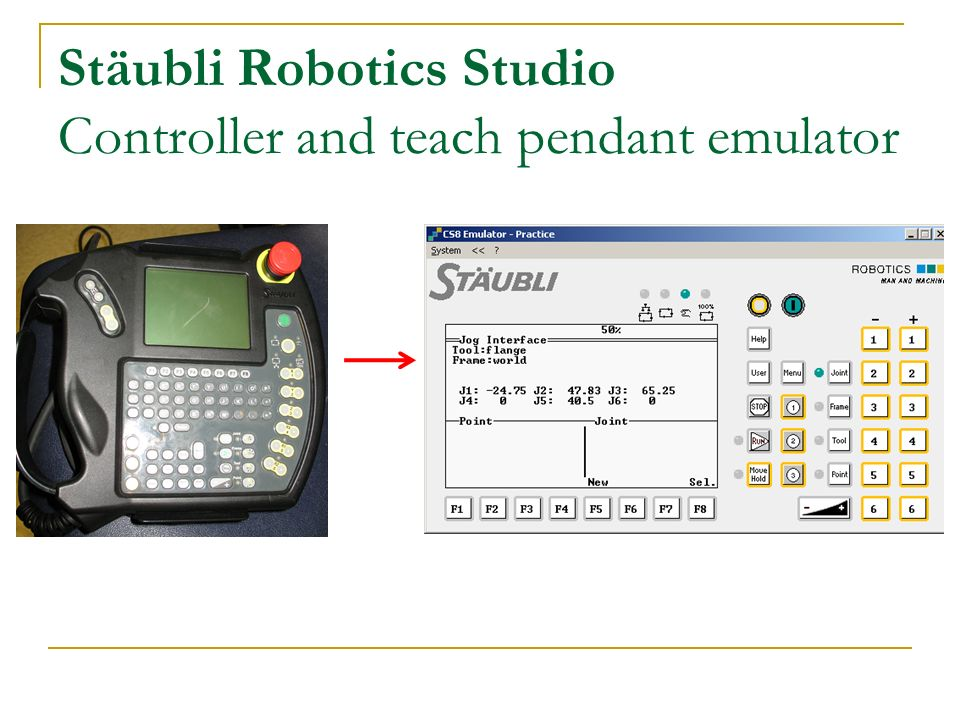 Introduction to the stubli rx60 ppt video online download 8 stubli robotics studio controller and teach pendant emulator aloadofball Image collections