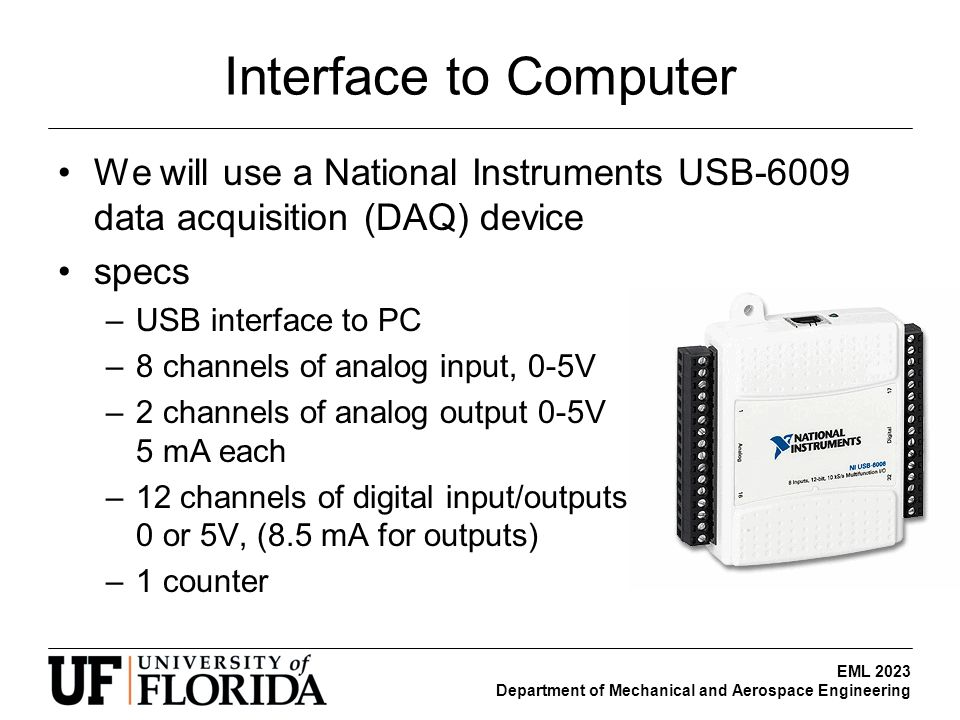 Data Acquisition Hardware Input Circuits : Servo motor control demonstration ppt download