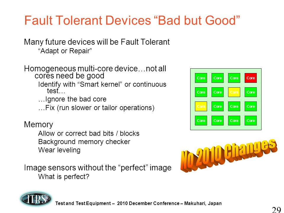 Fault Tolerant Devices Bad but Good