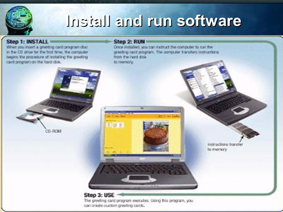 Install and run software