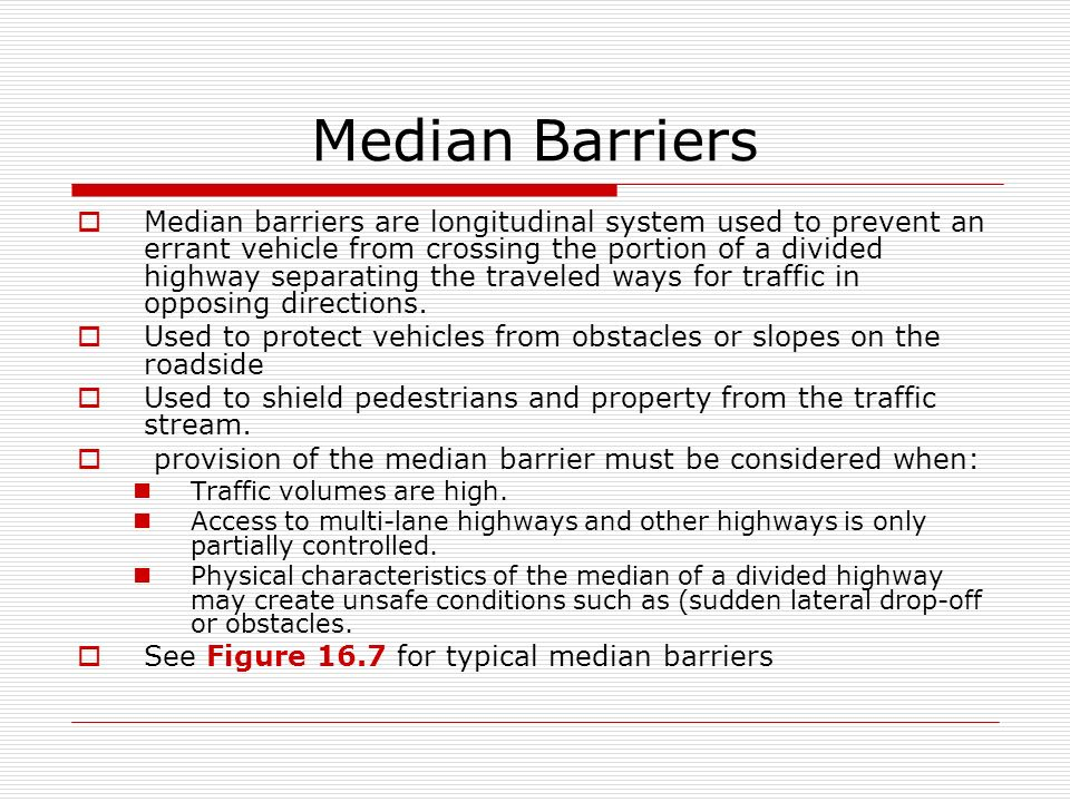 traffic stream characteristics How can the answer be improved.