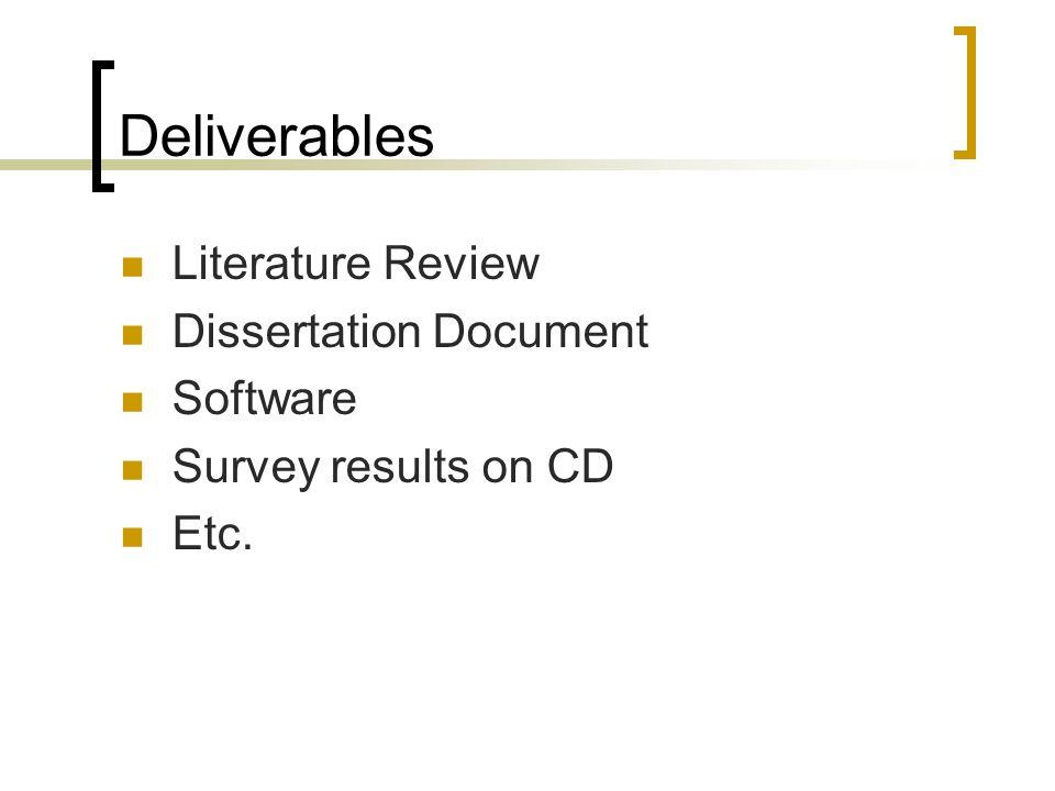 dissertation surveys