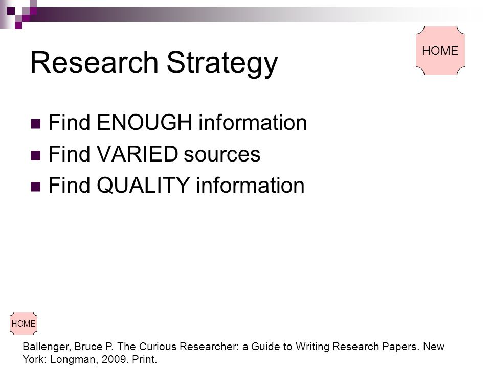the curious researcher a guide to writing research papers When writing a research paper, in text citation is essential to use to accredit   ballenger, bruce p the curious researcher: a guide to writing research  papers.