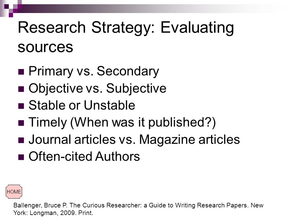 evaluating sources for research papers Website research: evaluating example websites the craap test on them will help you in evaluating other websites that may fool you into believing they are credible sources which would you use in an academic research paper which would you not use the nutrition source.
