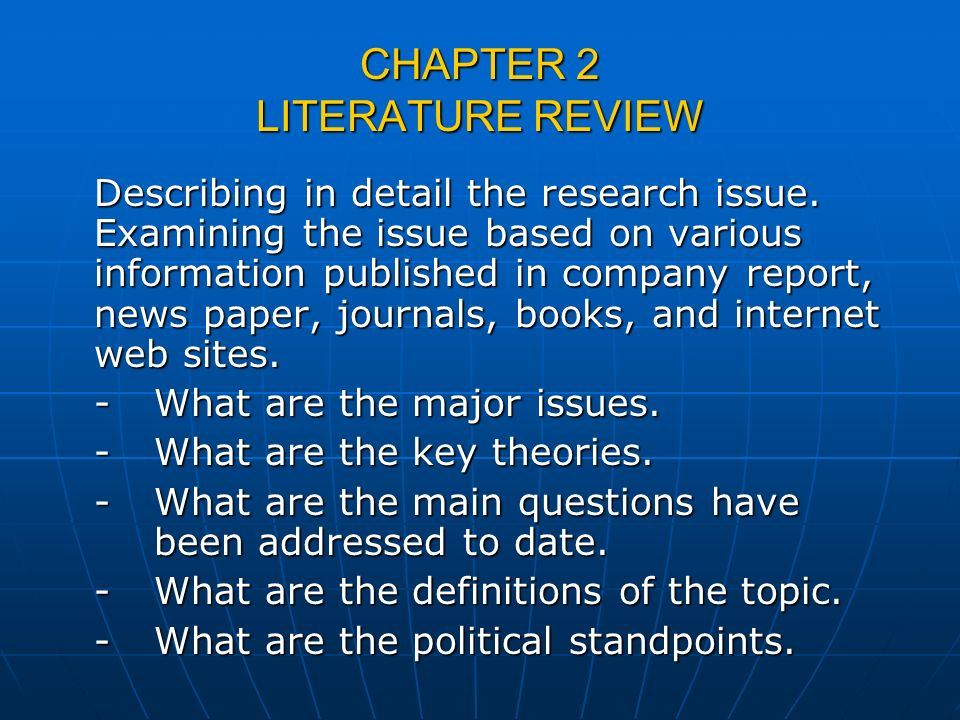 Literature Review On Research Methodology