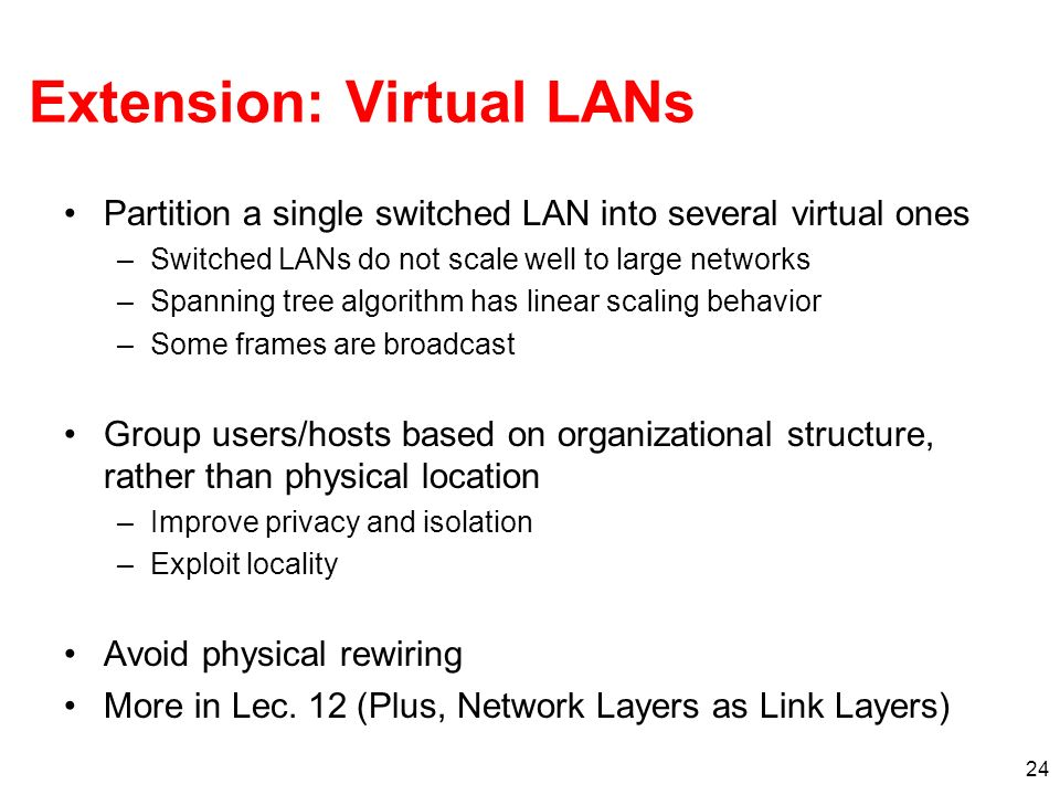 Extension: Virtual LANs