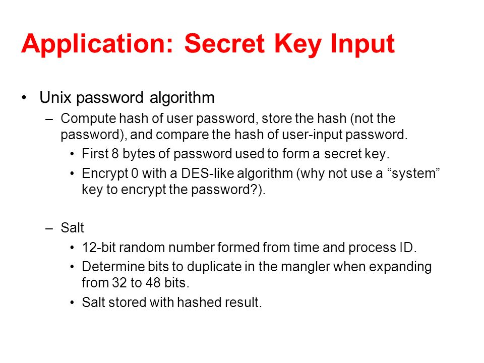 Application: Secret Key Input