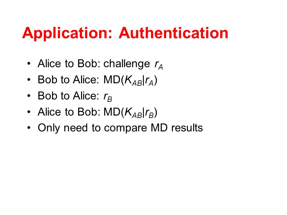 Application: Authentication