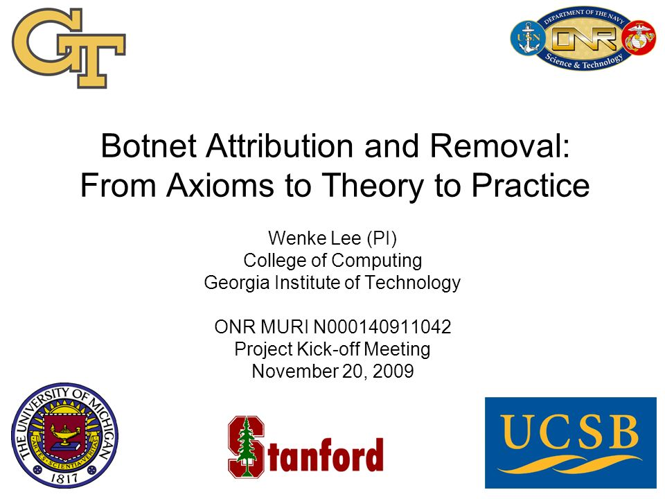 Botnet Attribution and Removal: From Axioms to Theory to Practice