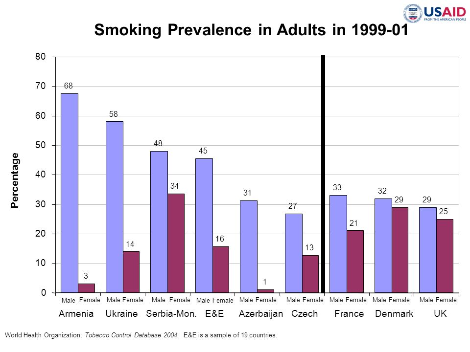 Smoking Prevalence in Adults in 1999-01