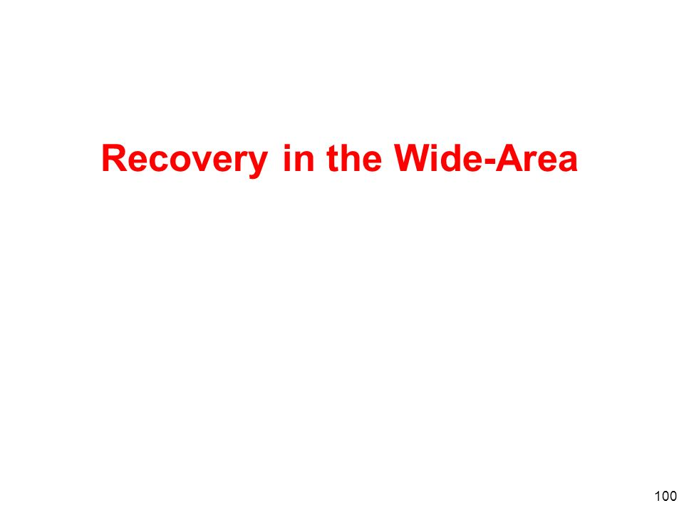 Recovery in the Wide-Area