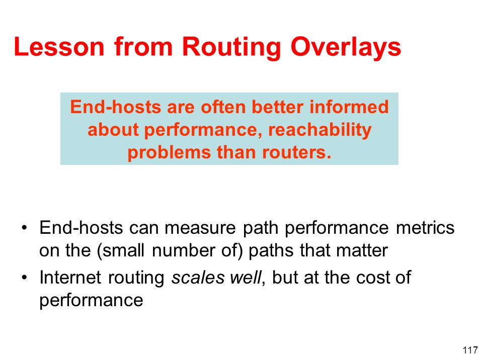 Lesson from Routing Overlays