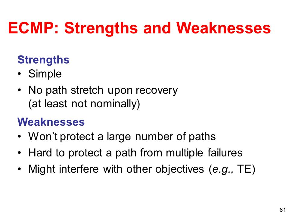 ECMP: Strengths and Weaknesses