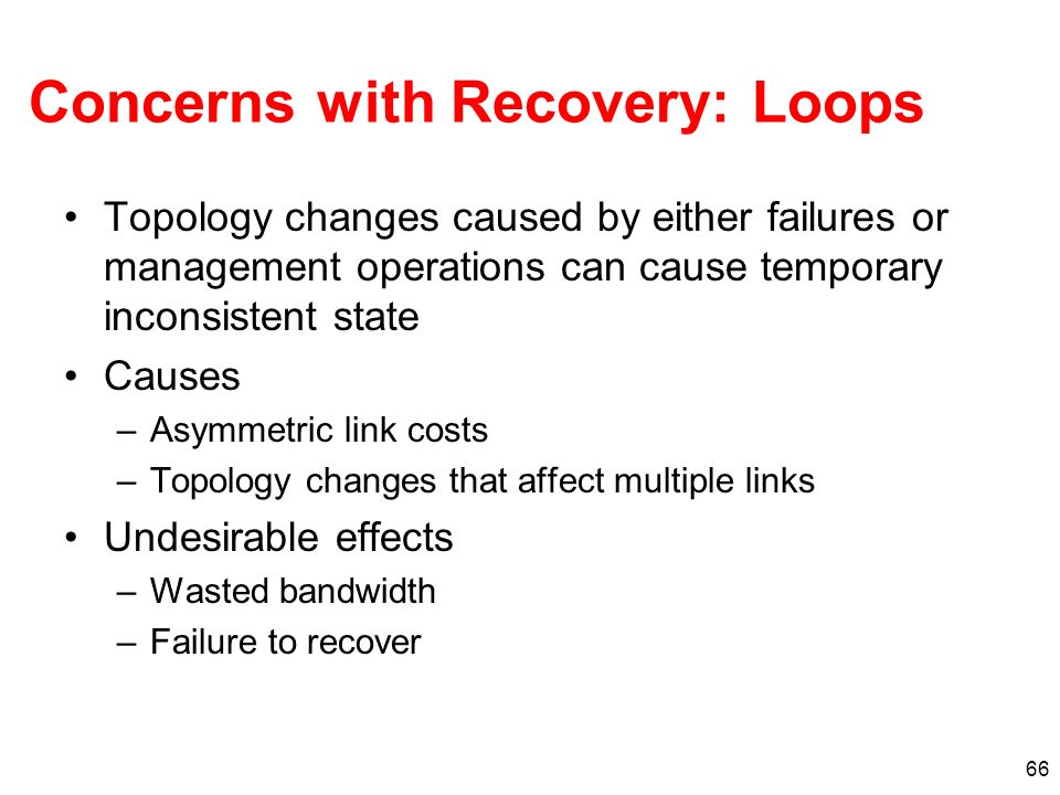 Concerns with Recovery: Loops