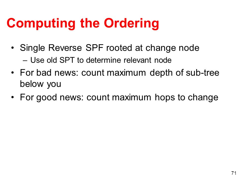 Computing the Ordering