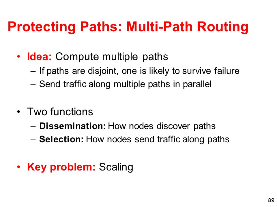 Protecting Paths: Multi-Path Routing